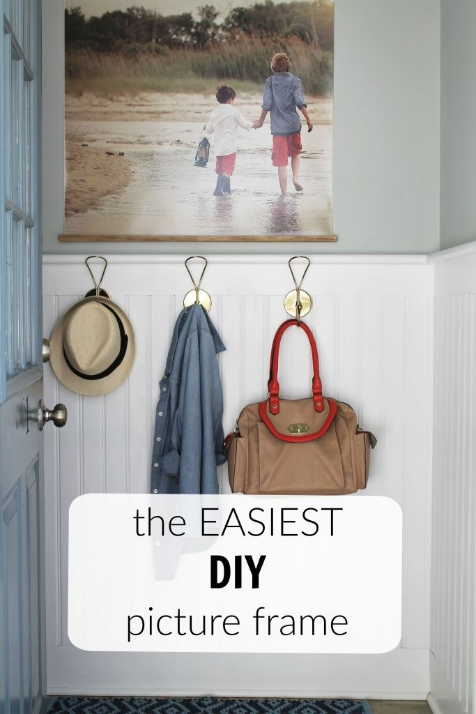 The Easiest DIY Picture Frame Made With Love | Decoración y Arte