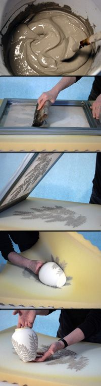 ummm, AWESOME >> screen print foam process for clay