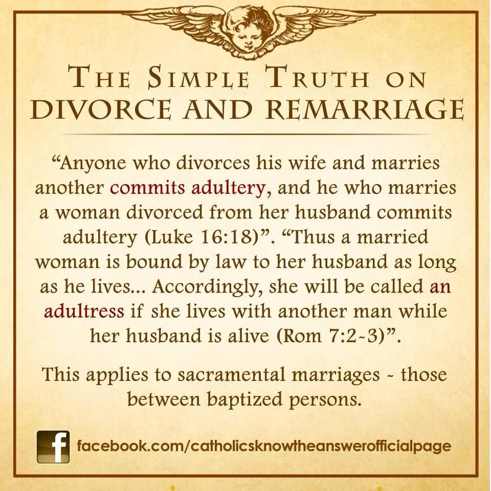 Catholic divorce adultery