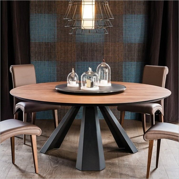 Photo Table Ronde Pour Salle A Manger Moderne Salle A Manger
