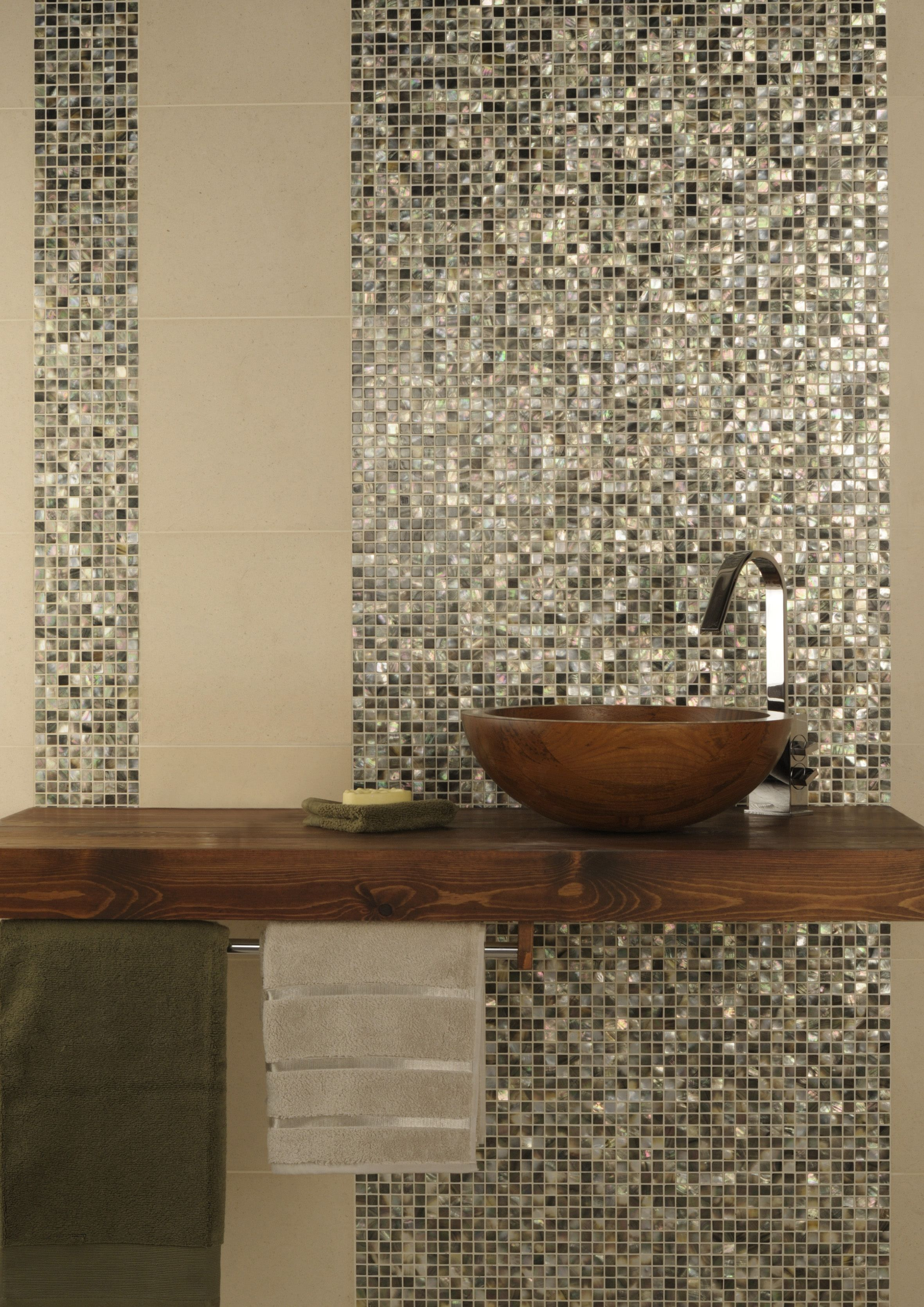 mosaic tiles for bathroom. Set an enchanting decor in your bathroom by covering walls black  mother of pearl mosaic tiles It will set a glittering and lively Mother Pearl shell Original Style Natural