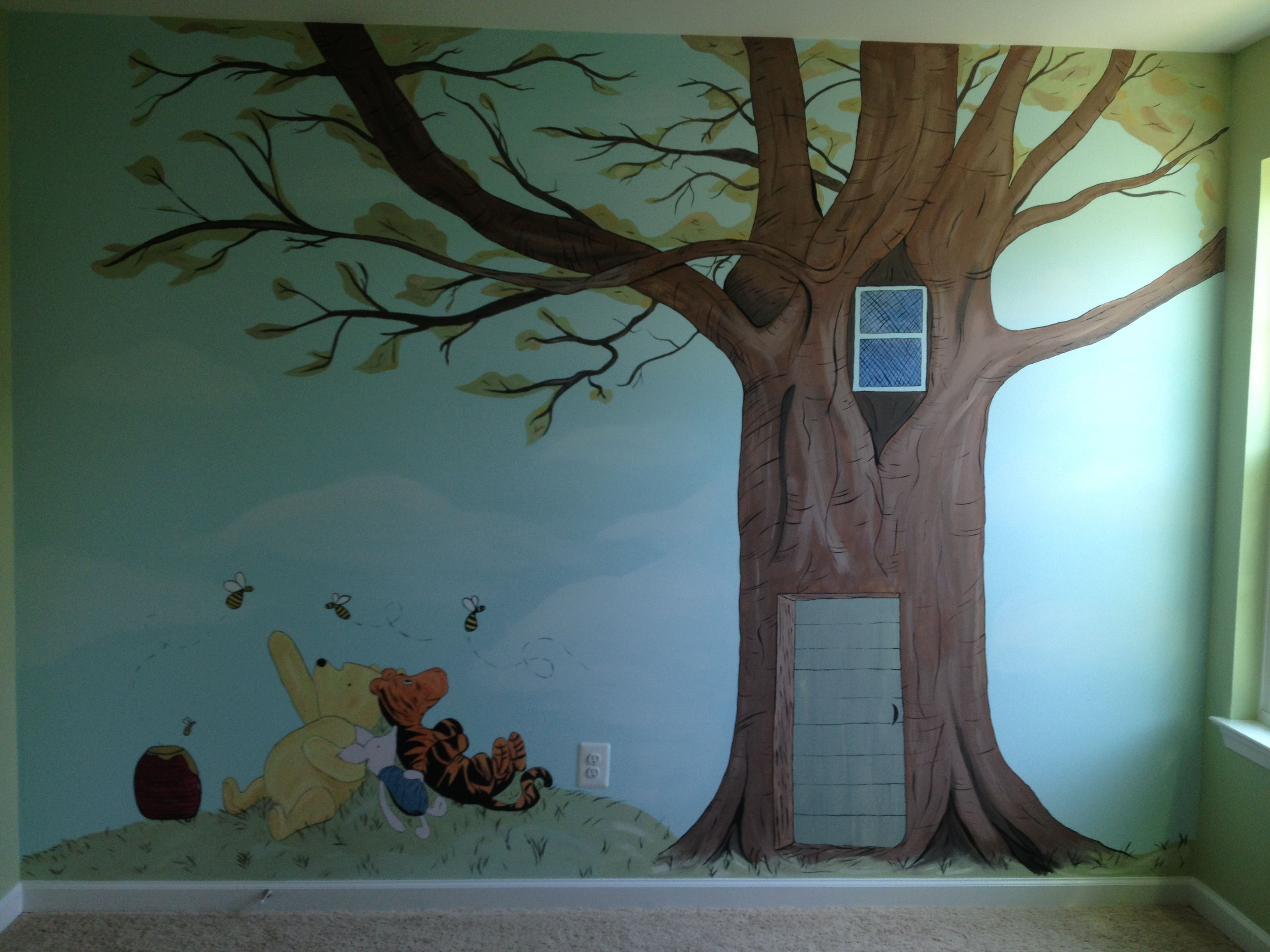Classic Winnie The Pooh Nursery Wall Mural Winnie The Pooh