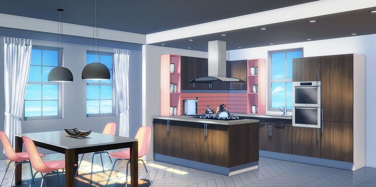 Cocina Salas Escuras Fundo De Animacao Cenario Anime
