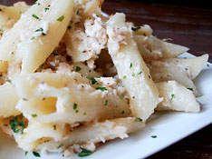 Penne and Salmon Bake - Pasta Recipe - Kaboose.com