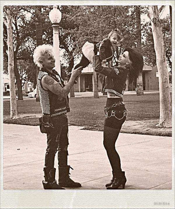 Punk, family, cute