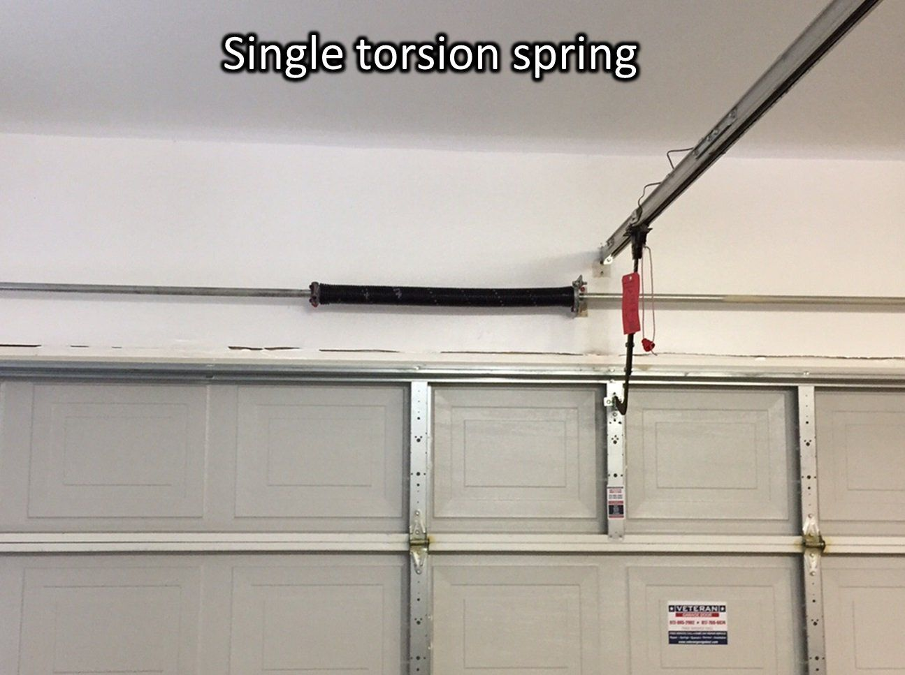 Photo Single Torsion Spring Tube Prefer Garage Door Inside Diameter
