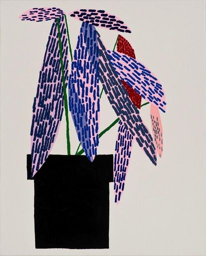 Paddle8: Small Pink Plant - Jonas Wood