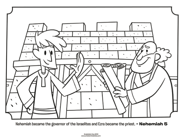 Ezra and Nehemiah Coloring Page | Sunday School Craft | Pinterest ...