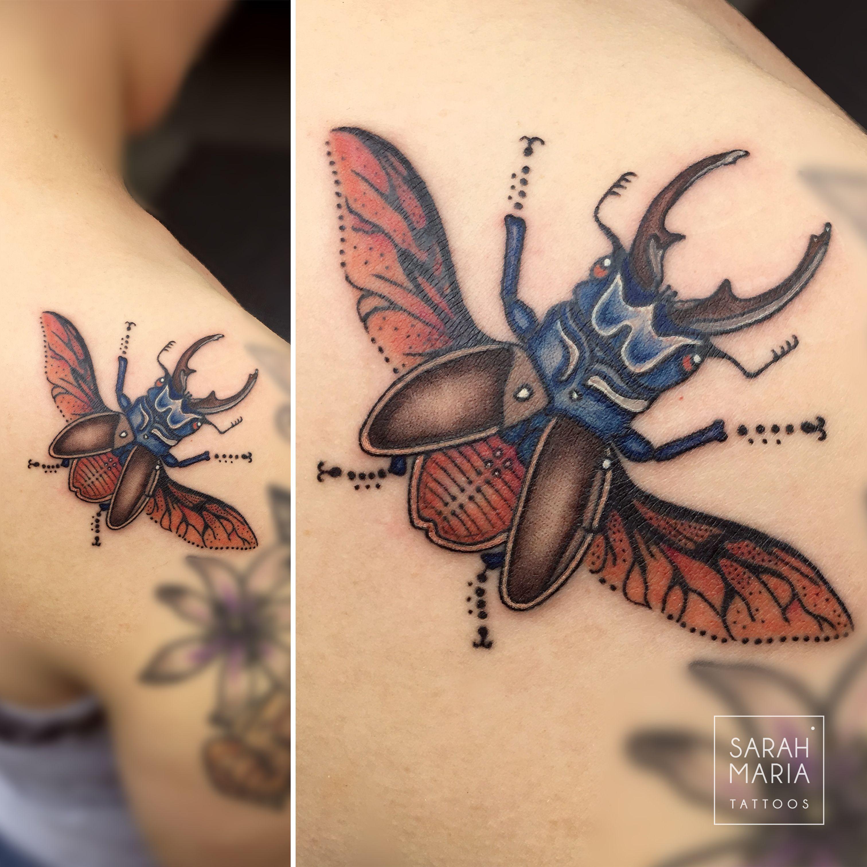 Hirschkafer Tattoo Tattoo Neotraditionaltattoo Colortattoo Stagbeetle Stagbeetletattoo Insecttattoo Naturetat Hirschkafer Tatowierungen Insekten Tattoo