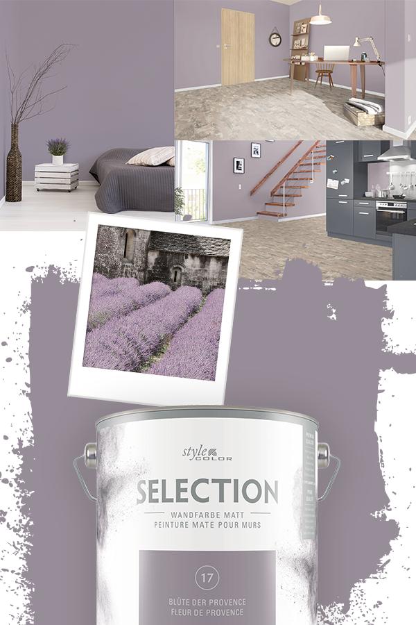 Premium Wandfarbe Stylecolor Selection Farbton 17 Blute Der Provence 2 5 L Blute Farbton Premium Provence Select In 2020 Room Inspiration Room Kitchen Ornaments