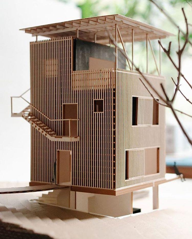 Maquette Maison, Maison Bois, Architecture Futuriste, Architecture  Contemporaine, Maquettes, Modèles Architecturaux, Rendu, Structure Bois,  Chevaux Blancs