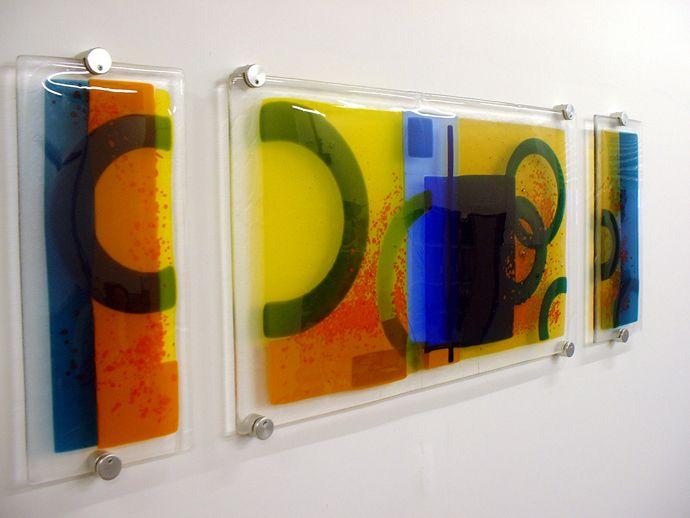 Wall panels | Glass wall art, Glass and Craft