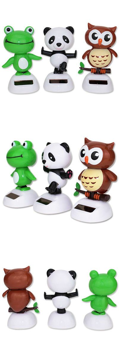 Nohohon 158702 Set 3 Kong Fu Panda Baby Owl Greed Frog Solar Bobble Head Toys Buy It Now Only 13 99 On Ebay Baby Owls Toy Sale Bobble Head