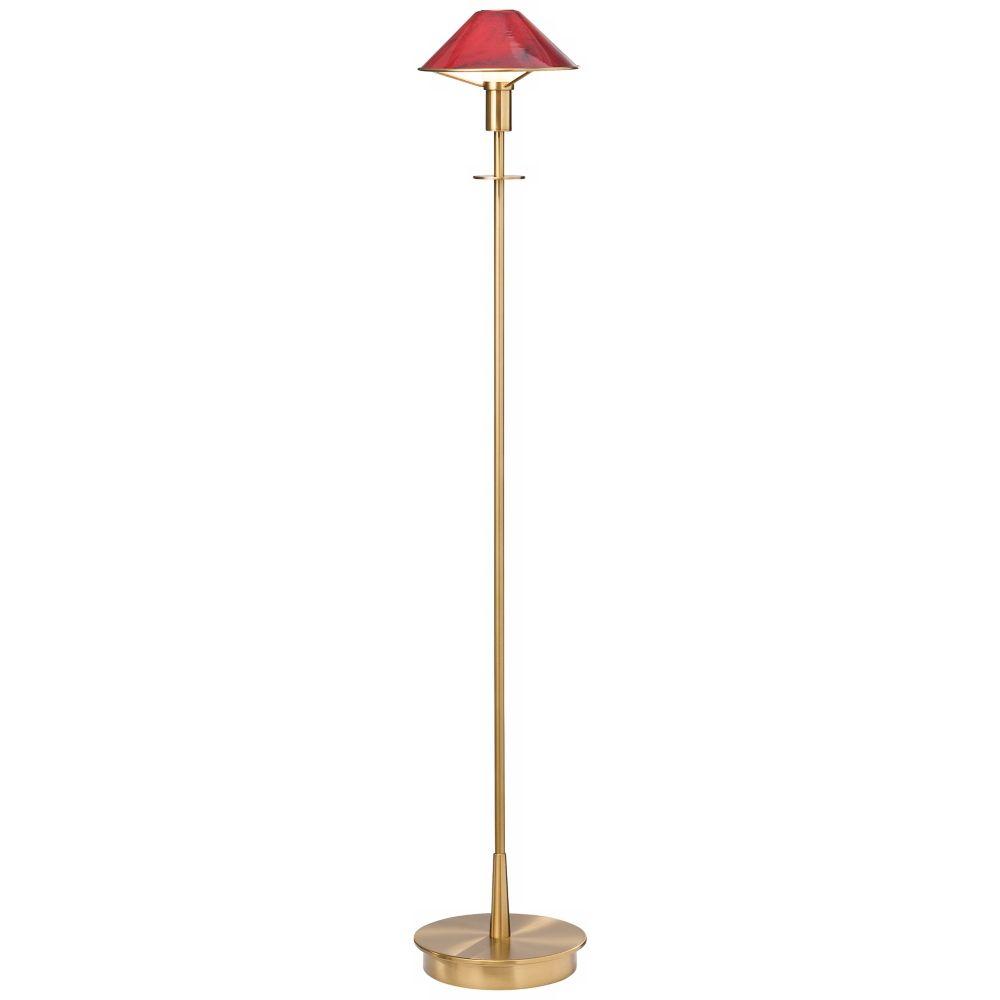 Holtkoetter Antique Brass Magma Red Glass Floor Lamp - Style # H9734 ...