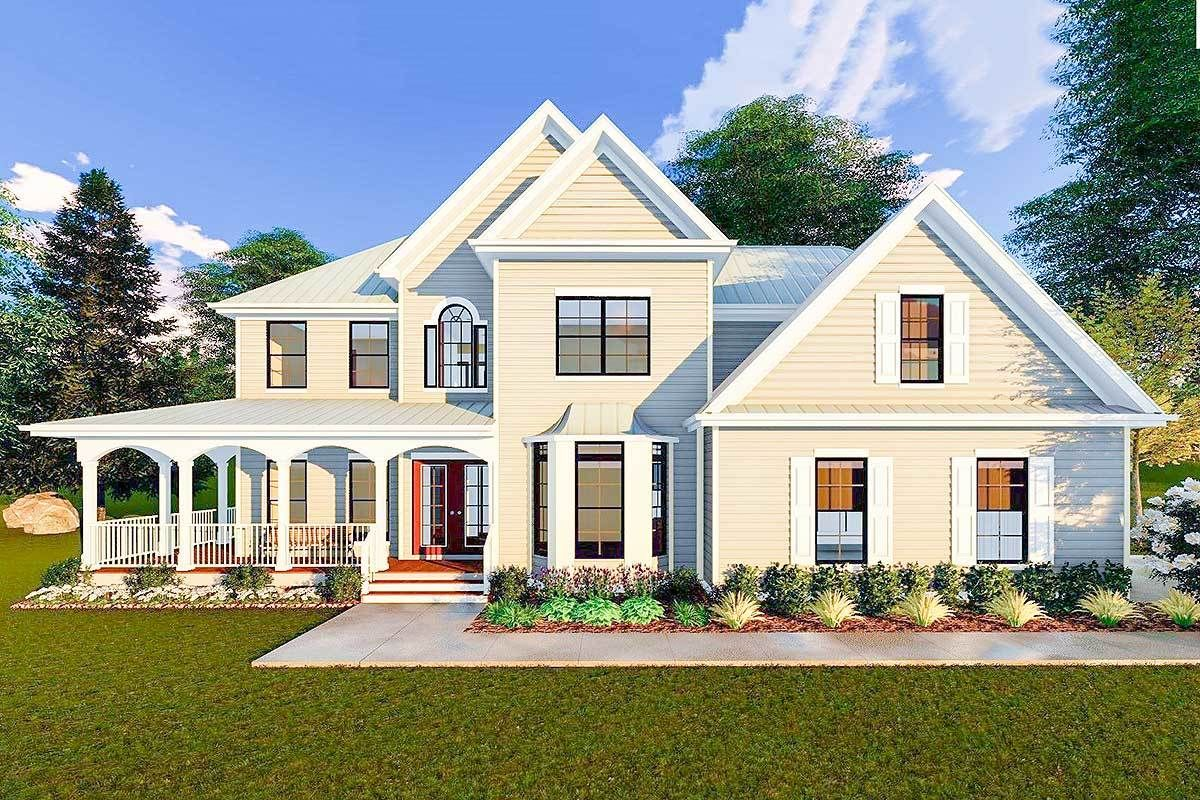 Beautiful Victorian Farmhouse Plan With Grand Wraparound Porch   62619DJ |  Architectural Designs   House Plans Nice Design