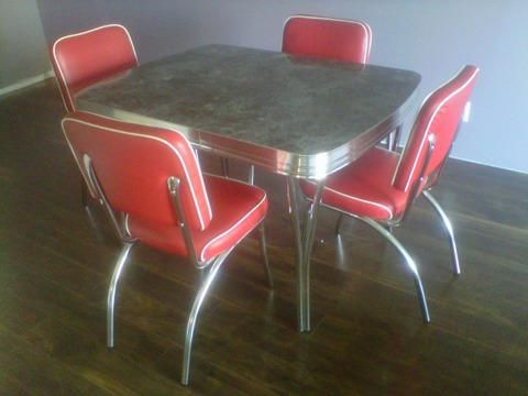 Classic 50s Chrome Dinette Set Back In Production Using Vintage Plans