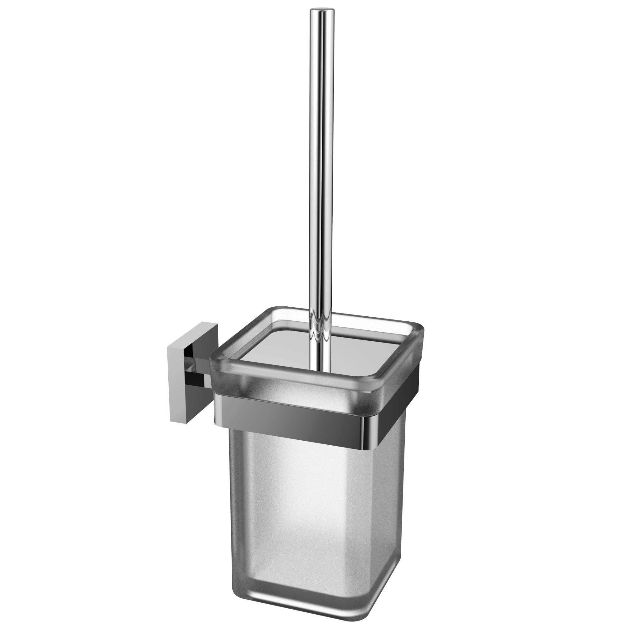 Eviva Cleansi Bathroom Accessories Chrome Finish Brass Toilet Brush ...