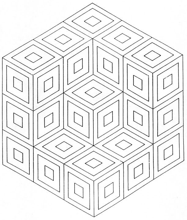 Draw a different design in each area of the squares to obtain a ...