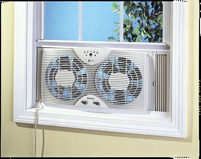 Holmes Dual Blade Twin Window Fan Is Ideal Kitchen And Bathroom