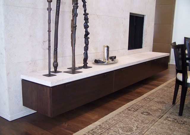 Like The Idea Of A Wall Mounted Buffet In The Dining Room