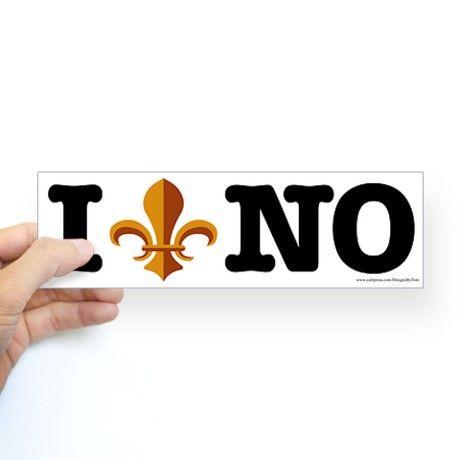 I love new orleans bumper bumper sticker on cafepress com