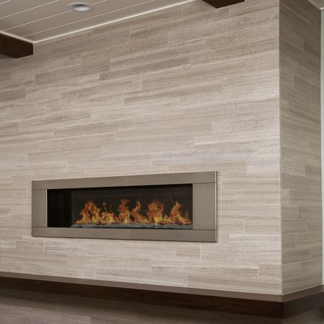 limestone tile fireplace surround - Google Search | Fireplaces ...