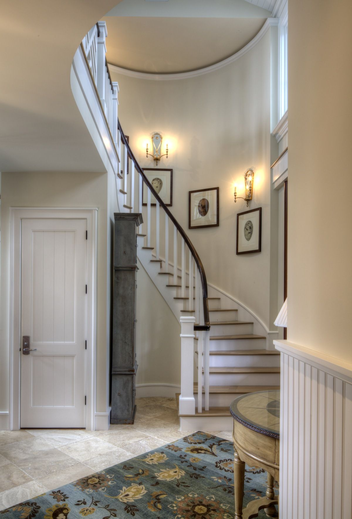 Beach House Foyer Lighting : Beach coastal living stairs foyer entry hallway