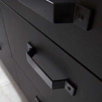 Meuble De Cuisine Bas Noir 1 Porte 1 Tiroir Mat Edition H70 X L