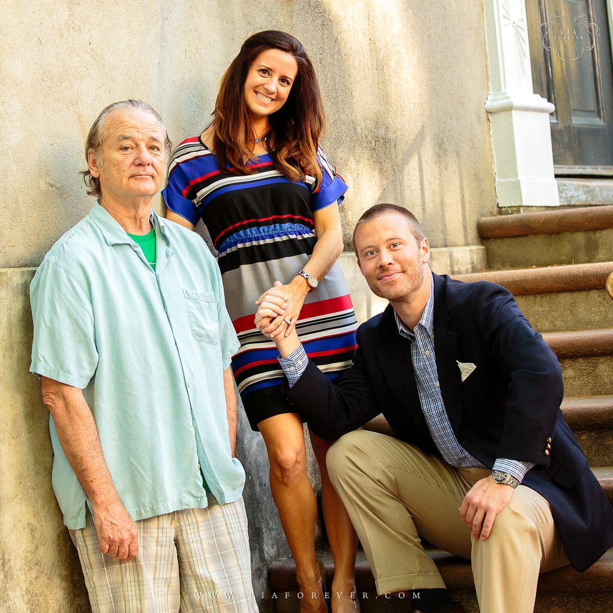 Bill Murray photobomb on engagement photo ..wouldn't ever engage without him :-D