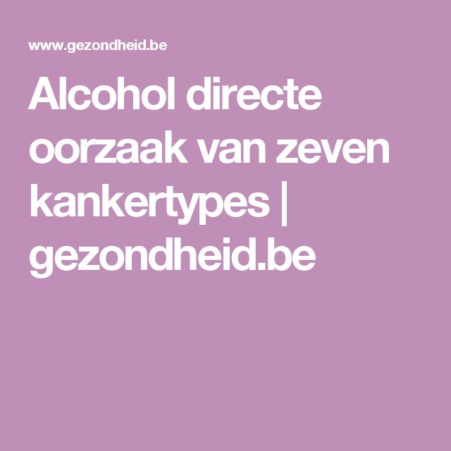 Alcohol directe oorzaak van zeven kankertypes | gezondheid.be