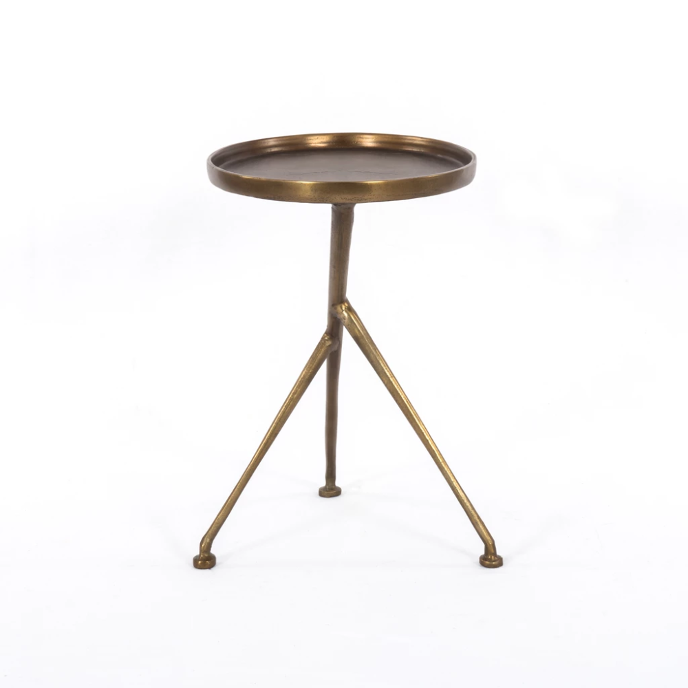 Schmidt Accent Table In Raw Brass In 2020 Side Table Accent Table Table