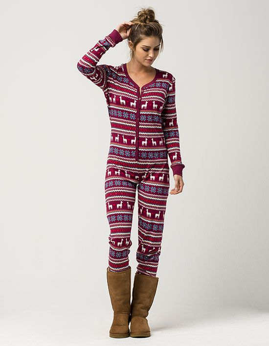3bc0252998 39 Women Outfits for Holiday and Christmas To Copy Right Now. COSMIC LOVE  Llama Womens PJ Onesie