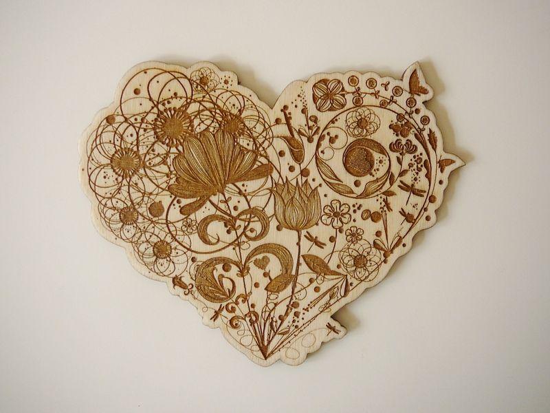 Einladungskarten   Holz Einladungskarten, Laser Graviert, Herz   Ein  Designerstück Von AniriArt