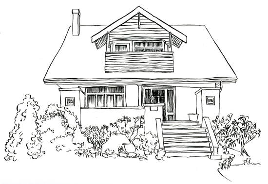 Craftsman House Drawing