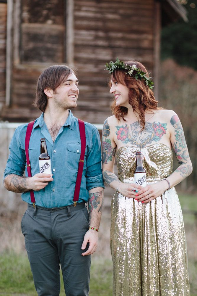 Horses A Gold Wedding Dress And Stunning Tattooed Bride Ginny Jack