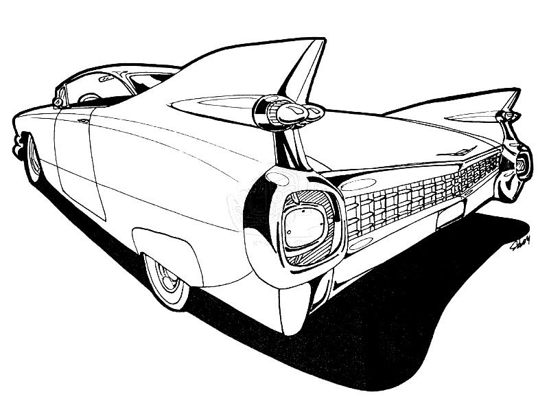 1959 Cadillac Drawing