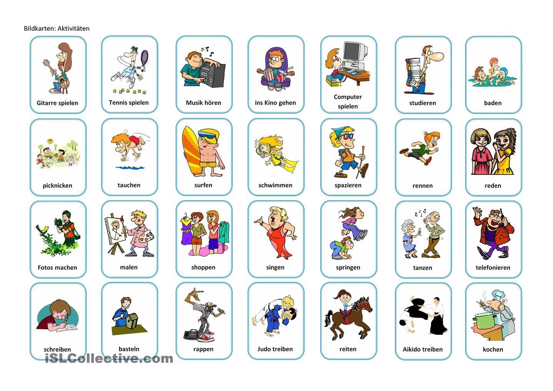 Ein Brettspiel zum Thema Hobbys | Verben, Interaktiv und ...
