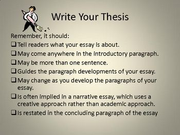 Outlines For Argumentative Essays  My Philosophy Of Education Essay also Billy Elliot Essay Writing A Thesis Statement  Schoolela  Writing A Thesis  Good Narrative Essay Topics
