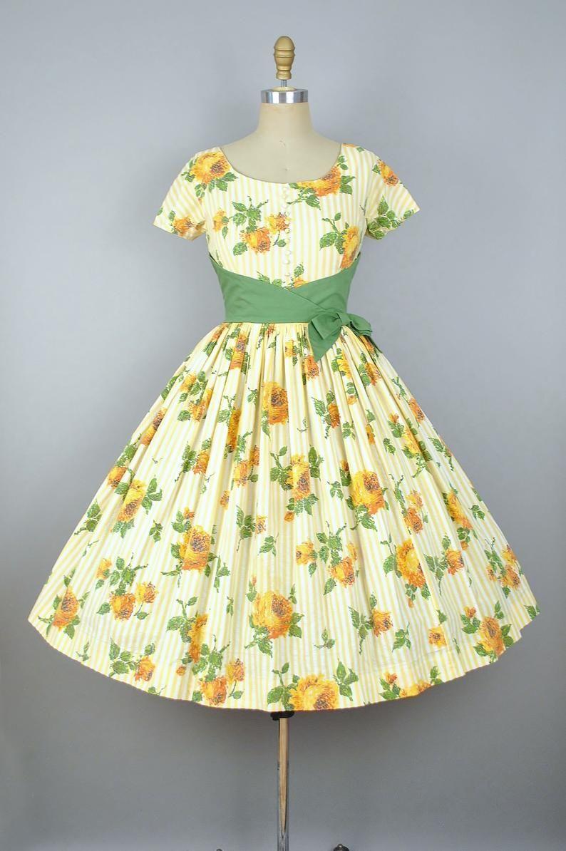 Vintage 50s Jonathan Logan Rose Print Dress 1950s Striped Image 3 Vintage 1950s Dresses Vintage Dresses 50s Vintage Summer Dresses [ 1194 x 794 Pixel ]