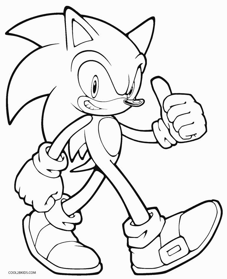 Coloring Pages For Kids Printable Sonic Coloring Pages For Kids Ausmalbilder Buchmarkierungen Malbilder