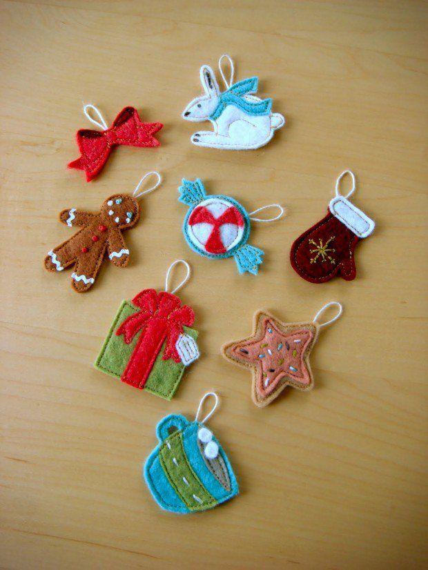 30 Wonderful Diy Felt Ornaments For Christmas Felt