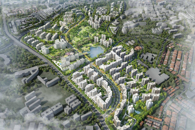 Master Plan For Public Housing At Bidadari Estate Singapore Architectural Design Master Plan Estates Urban Planning