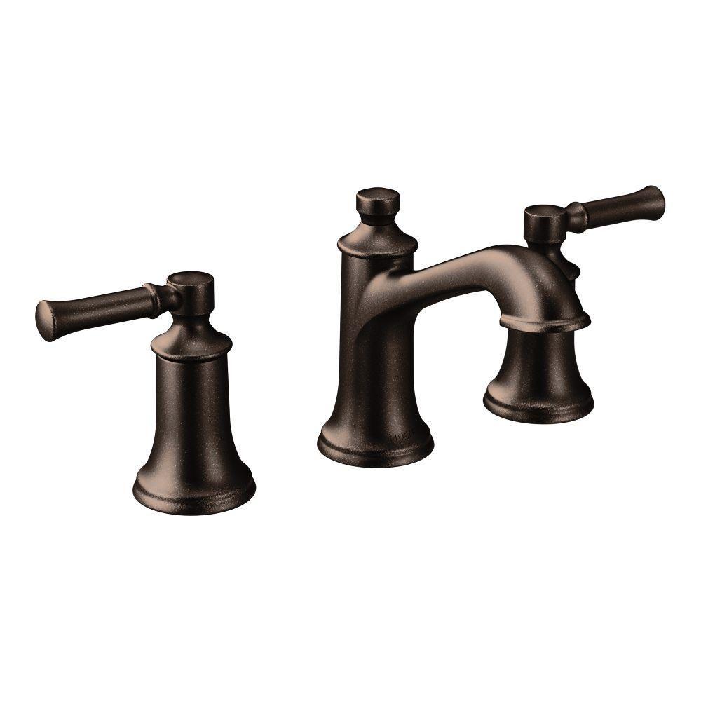 Moen Brantford 4 In Centerset 2 Handle Low Arc Bathroom Faucet In