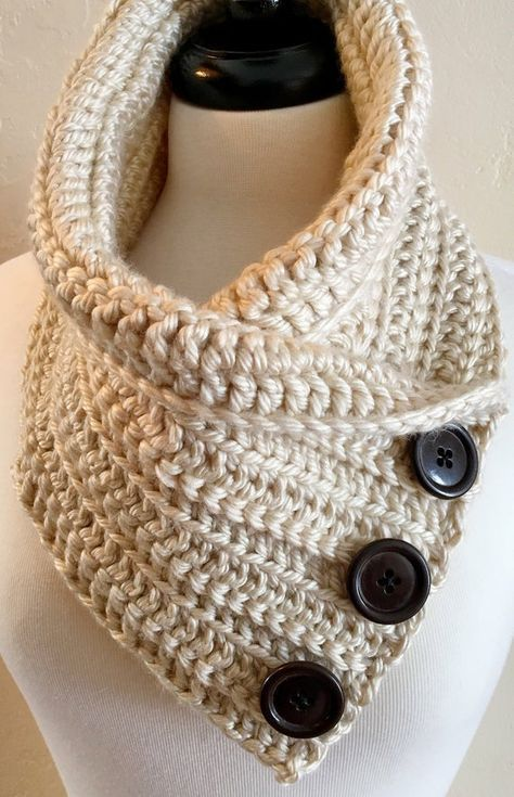 Crochet scarf with buttons cowl neck 37+ ideas in 2020 ...