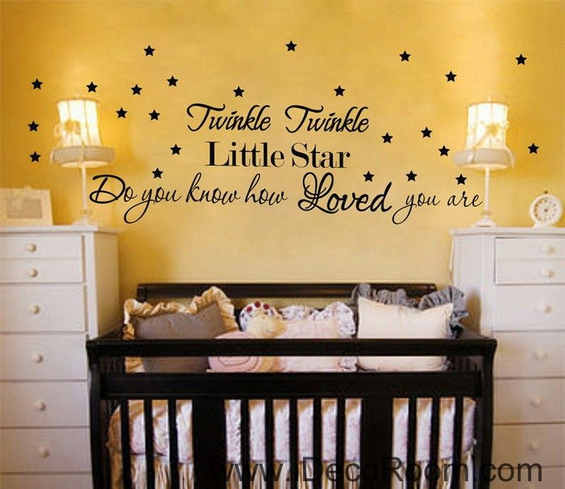 Twinkle Twinkle Little Star Wall Quotes Vinyl Decal Stickers Kids ...