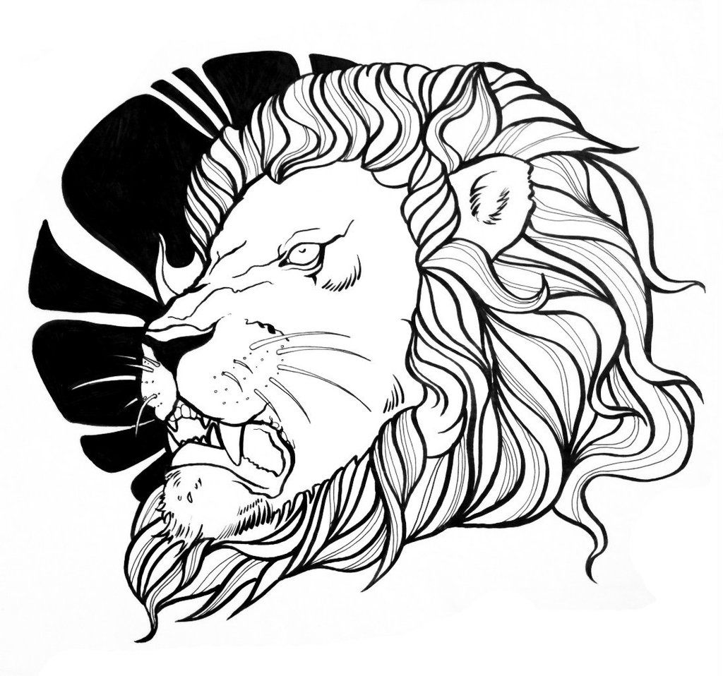 lion outline tattoo lion line by weliss