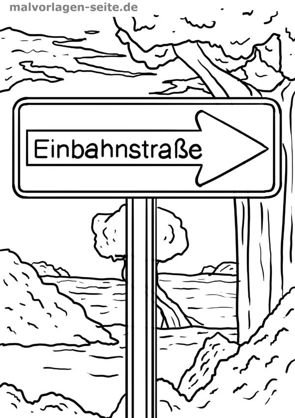 Verkehrszeichen Zum Ausmalen In Kindergarten Oder Grundschule Verkehrszeichen Verkehr Verkehrserziehung