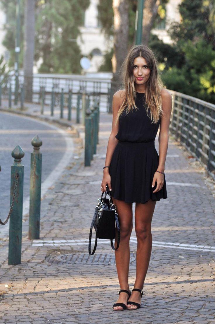 Black dress flats