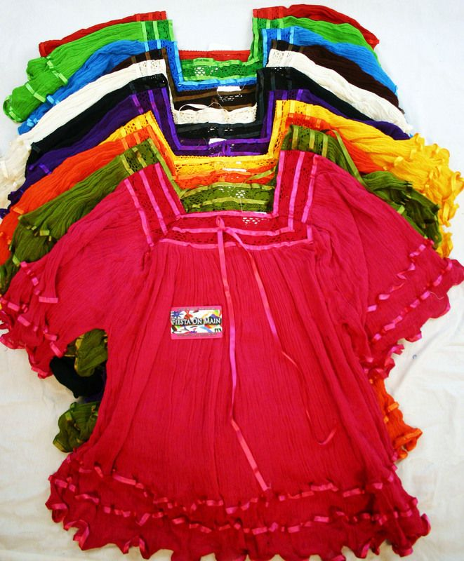 Alamo Fiesta - BLOUSE ANGELITA CON MANGA  Here is a shop here in San Antonio, if you like the blouses, they are very colorful!