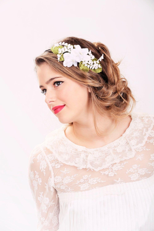 Wedding Headband Bridal Hair Wedding Hair Accessory White Flower